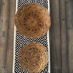 Vintage Retro Boho Woven Rattan Wicker Basket - 2